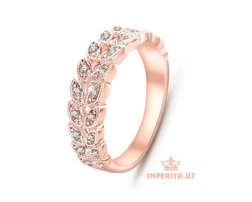 """Женское кольцо """"Сердечки с кристаллами"""""""